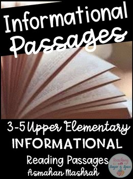 Informational Reading Passages Grades 3-5