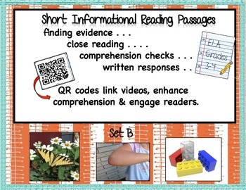 Informational Reading Passages Set B