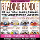 Reading Comprehension Passages with Questions BUNDLE - Distance Learning