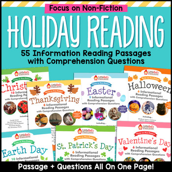 Reading Passages Holiday Bundle