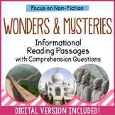 Reading Comprehension Passages - Mysteries and Wonders - Distance Learning