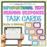 Informational Reading Response Task Cards { Critical Think