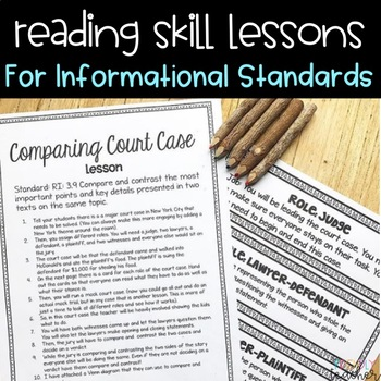Informational Reading Skill Lessons