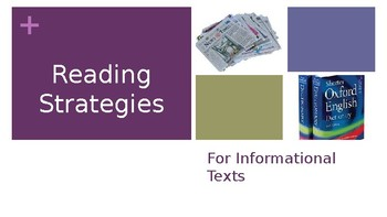 Informational Text Reading Strategies PowerPoint
