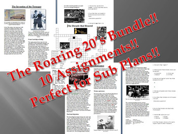 Informational Reading Text - The Roaring 20's Bundle (no prep/sub plans)
