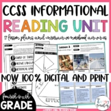 Reading Informational Unit | 4th 5th and 6th | Digital | Interactive Notebook