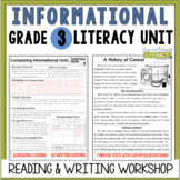 Informational Reading & Writing Unit: Grade 3...2nd Edition!!