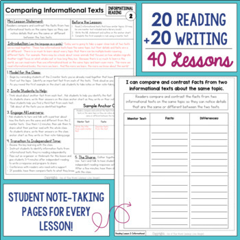 Informational Reading & Writing Unit: Grade 5...40 Lessons with CCSS!!