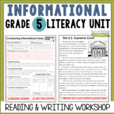 Informational Reading & Writing Unit: Grade 5...2nd Edition!!