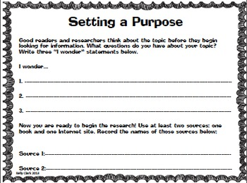 Informational Reading and Writing Project- 2 Week Unit (CCSS aligned)
