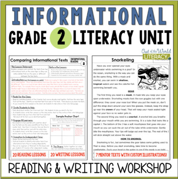 Informational Reading and Writing Unit: Grade 2...40 Lessons with CCSS!!