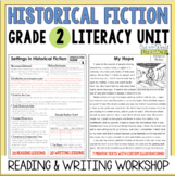 Historical Fiction Reading and Writing Unit: Grade 2...40 Lessons with CCSS!!