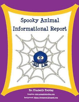 Informational Report: Spooky Animal Foldable