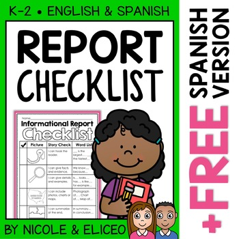 Writing Checklist - Informational Reports
