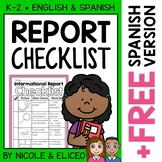 Informational Reports Writing Checklist