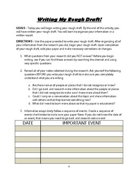 Informational Report Writing - FREE FOR A SHORT TIME INTRODUCTORY PERIOD!