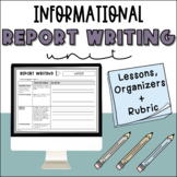 Informational Report Writing Unit - Middle School Essay Writing