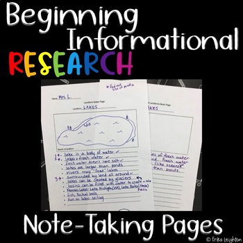 Informational Research Pages