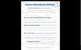Informational Science Essay Organizer