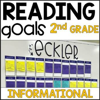 Informational Second Grade Reading Goals Post Its