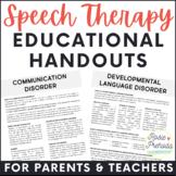 Info Speech & Language Handouts for Parents & Teachers