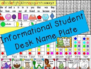 Informational Student Desk Name Plate