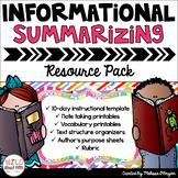 Summarizing Informational Text Resource Pack