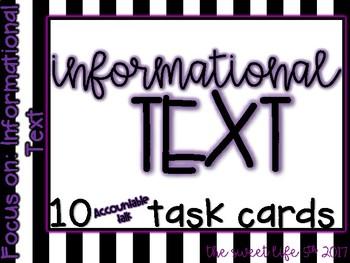 Informational Task Cards (accountable talk)