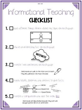 Informational Teaching Checklist