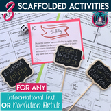 Informational Text: 3 Scaffolded Activities for Any Nonfiction Article