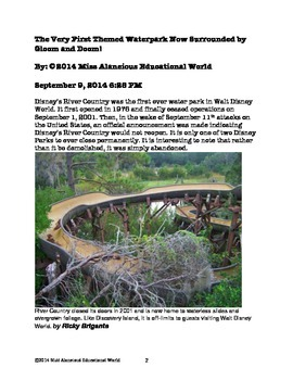 Informational Text: Abandoned River Country Water Park in Disney