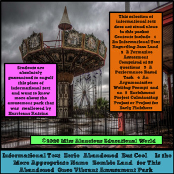 Informational Text: Abandoned Six Flags in New Orleans