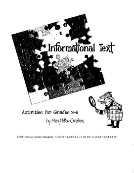 Informational Text Activities