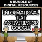 Informational Text Activities for Google Forms Bundle- Dis