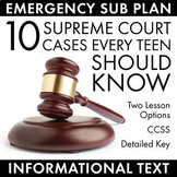 Informational Text Activity, FREE, Supreme Court Cases, Ea