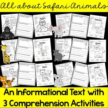 Informational Text- Safari Animals (Common Core) GROWING  BUNDLE