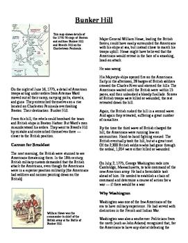Informational Text - American Revolution: Bunker Hill (No Prep)