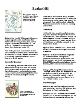 Informational Text - American Revolution: Bunker Hill (No Prep)