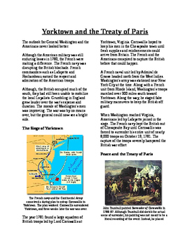 Informational Text - American Revolution: Yorktown and Treaty of Paris (No Prep)