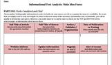 Informational Text Analysis, Main Idea Template Statement Graphic Organizer