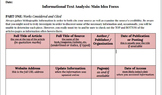 Informational Text Analysis, Main Idea Template Statement