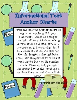 Informational Text Anchor Charts