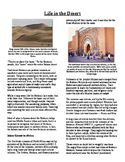 Informational Reading Text - Ancient Africa: Life in the Desert (No Prep)