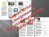 Informational Reading Text - Ancient Africa Bundle (No Prep Sub Plans)