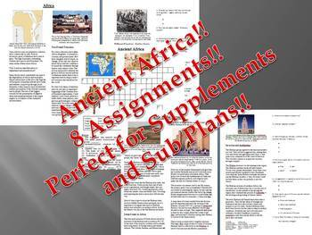Informational Reading Text - Ancient Africa (No Prep Sub Plans)