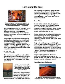 Informational Text - Ancient Egypt: Life Along the Nile (No Prep)