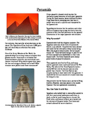 Informational Text - Ancient Egypt: Pyramids (No Prep)