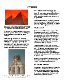 Informational Text - Ancient Egypt: Pyramids (No Prep)