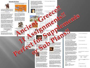 Informational Reading Text - Ancient Greece Bundle (No Prep/Sub Plans)