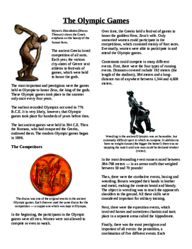 Informational Text - Ancient Greece: The Olympic Games (No Prep)